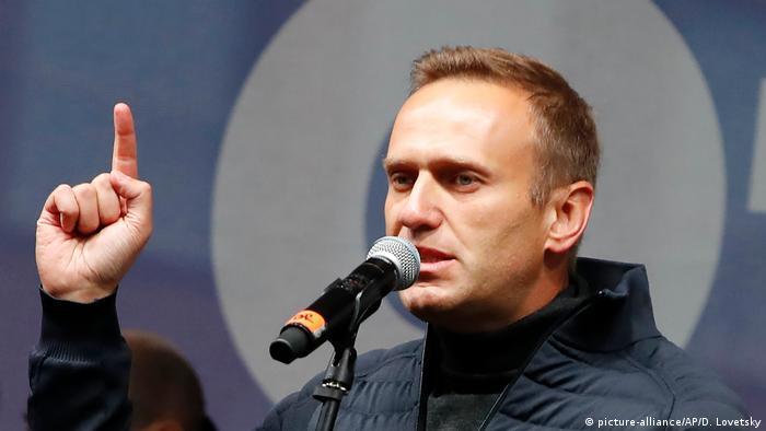 Russland Moskau Proteste Rede Nawalny (picture-alliance/AP/D. Lovetsky)