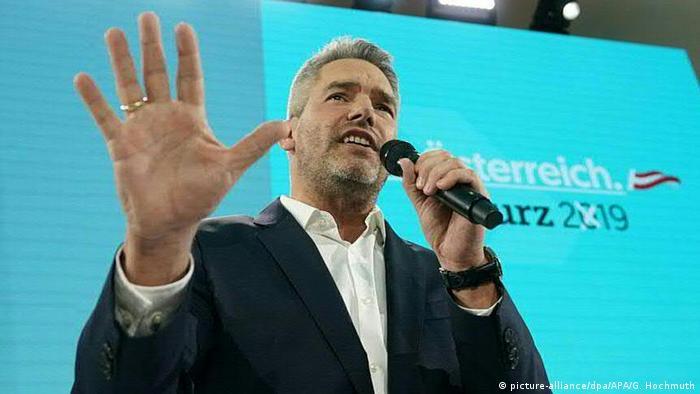 Ministar unutrašnjih poslova Karl Nehamer član je Narodne partije Austrije ÖVP