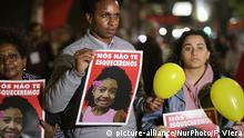 Brasilien Rio Protest und Trauer um Mädchen Agatha Felix