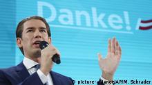 Österreich Wien Parlamentswahl Rede Kurz ÖVP
