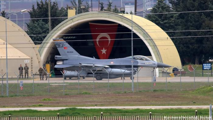 Turkish military aircrafts are seen at the Incirlik air base