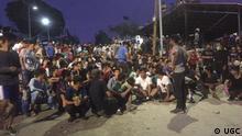 Griechenland Feuer im Moria Flüchtlingslager auf Lesbos