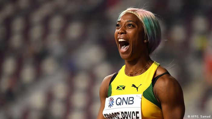Leichtathletik-WM 2019 100 Meter Siegerin Shelly-Ann Fraser-Pryce