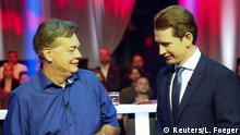 Österreich Wahlen TV Debatte Kogler Kurz