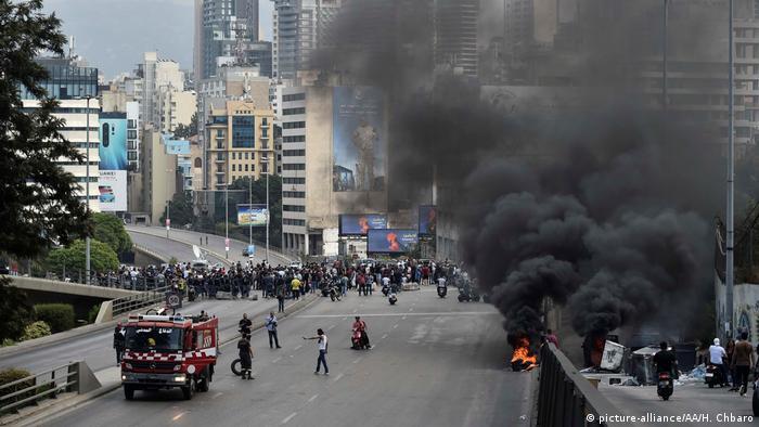 Libanon Proteste Ausschreitungen (picture-alliance/AA/H. Chbaro)