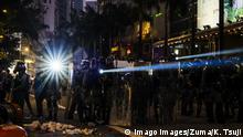 Hongkong Anti Regierungsproteste Polizei