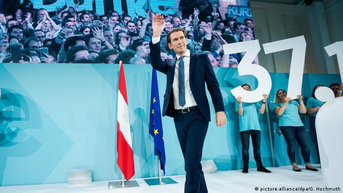Wahl Österreich Sebastian Kurz (picture-alliance/dpa/G. Hochmuth)