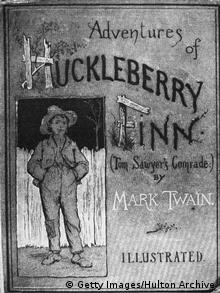 Capa de livro de Huckleberry Finn (1884) (Getty Images / Hulton Archive)