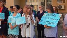 Bulgarien Protest der Krankenschwester