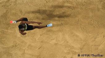 Hugues Fabrice Zango lors de la finale des championnats du monde à Doha en 2019