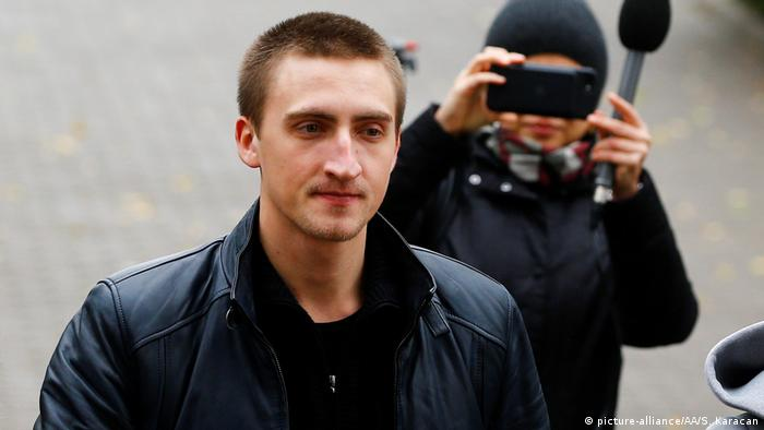 Actor Pavel Ustinov arrives at the Moscow City Court on September 30, 2019