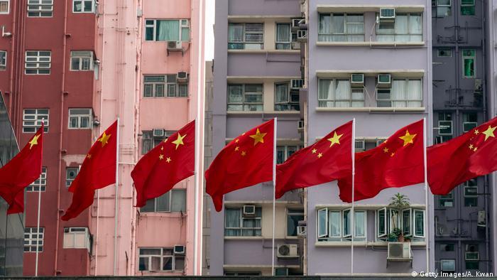 Honkong Vorbereitungen für den 70. Jahrestag der Volksrepublik (Getty Images/A. Kwan)