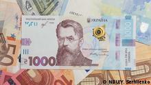 Ukrainische Nationalbank zum neuen 1000 Hrywnja Geldschein