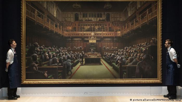 BG Banksy | Devolved Parliament (picture-alliance/ZUMAPRESS/Ray Tang)