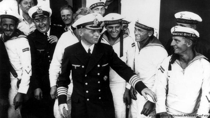 Graf Spee Captain Hans Langsdorff with this crew