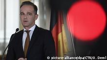 Tschechien Prag | Außenminister Heiko Maas während Pressekonferenz