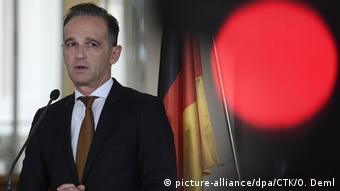 Tschechien Prag   Außenminister Heiko Maas während Pressekonferenz