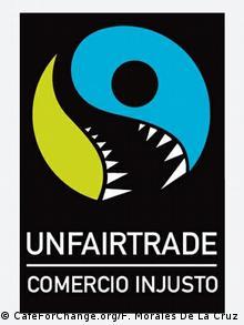 Logo de Unfairtrade, CafeForChange, Fernando Morales de la Cruz.