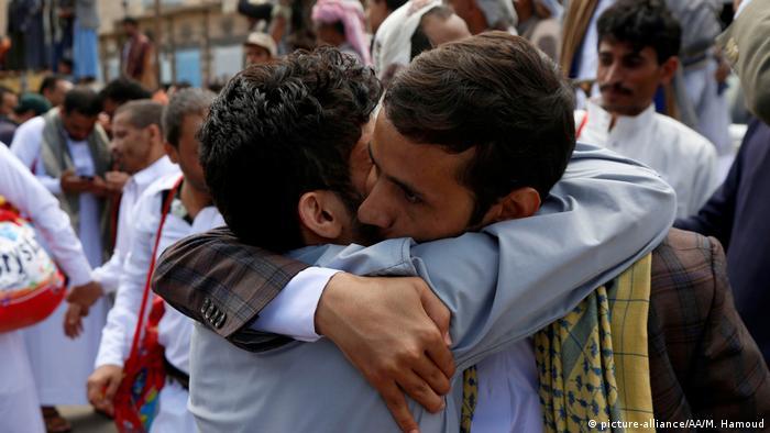 Released by Houthi rebels, former detainees greet loved ones in Sanaa
