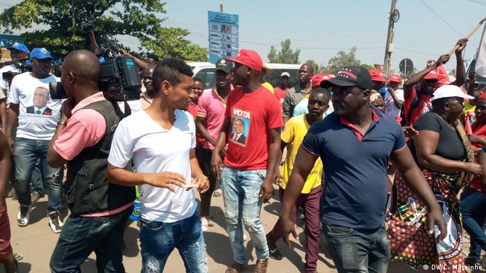 Mosambik Frelimo Wahlkampfveranstaltung in der Provinz Gaza