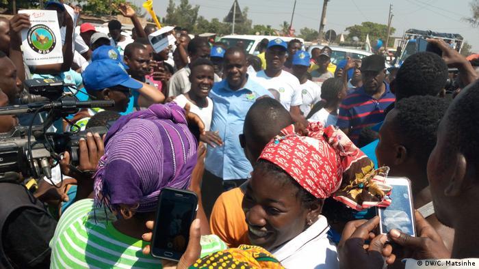 Mosambik Daviz Simango Wahlkampfveranstaltung (DW/C. Matsinhe)