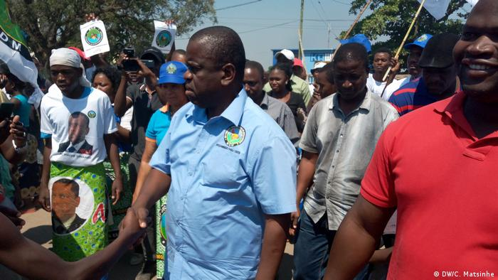 Mosambik Daviz Simango Wahlkampfveranstaltung