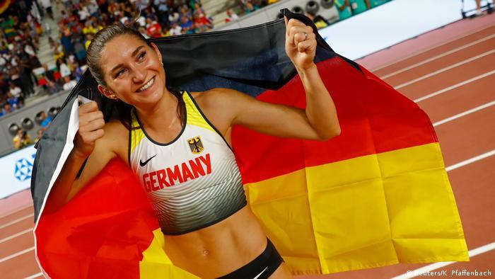 Katar Doha   Leichtathletik WM 2019 Frauen 3000 Meter Hindernisrennen Gesa Krause