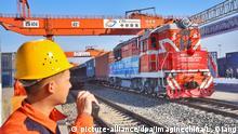 China Xi'an Frachtzug Neue Seidenstraße (picture-alliance/dpa/Imaginechina/L. Qiang)