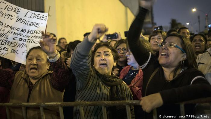Protestas en Lima. (30.09.3019).