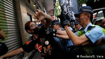 Represión en Hong Kong.