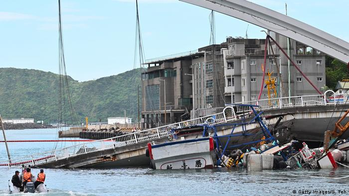 Collapsed bridge in Taiwan