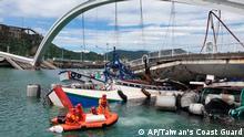 Taiwan Verletzte nach Brückeneinsturz