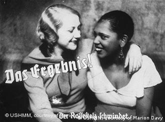 Nazi era poster discouraging interaction between Germans and blacks