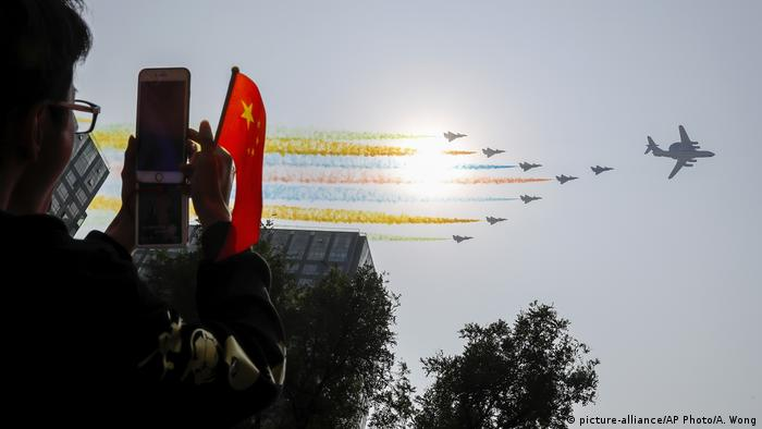 Peking Parade 70 Jahre Volksrepublik China (picture-alliance/AP Photo/A. Wong)