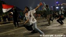 Indonesien Protesten gegen neue Gesetze