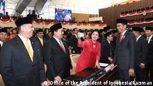 Indonesien Vereidigung des neuen Parlaments in Jakarta | Puan Maharani und Joko Widodo