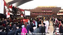 Sworn-in ceremony of the new elected members of Indonesian parliament. Rights: Office of the President of Indonesia/Rusman