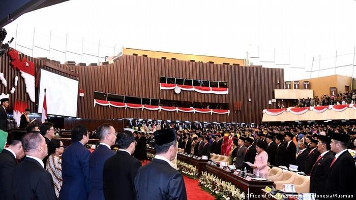 Indonesien Vereidigung des neuen Parlaments in Jakarta