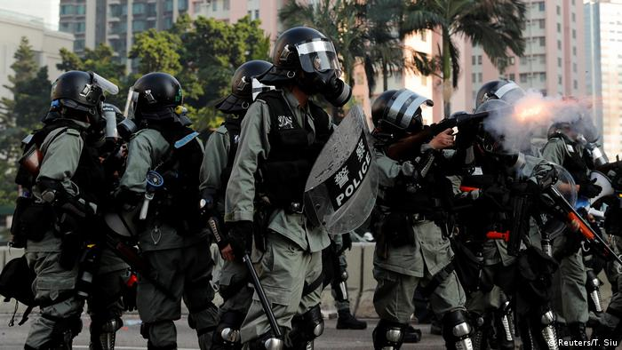 Hongkong 70 Jahre Volksrepublik China - Proteste