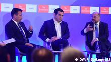 Nordmazedonien Westbalkangipfel in Skopje Zoran Zaev, Alexis Tsipras und Martin Schulz