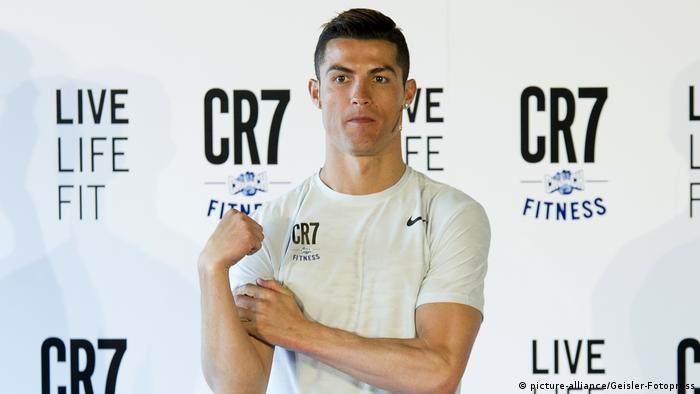Cristiano Ronaldo präsentiert CR7 Crunch Fitness in Madrid (picture-alliance/Geisler-Fotopress)
