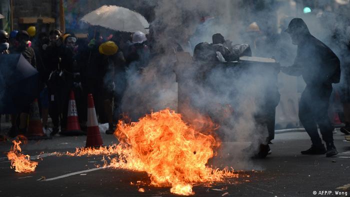 Hongkong Proteste in Tsuen Wan