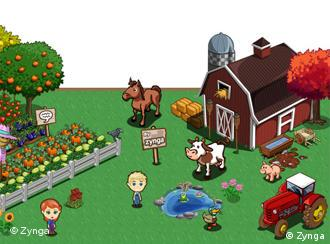 Farmville is a Game where you can farm with your Friends Quelle: Farmville.com