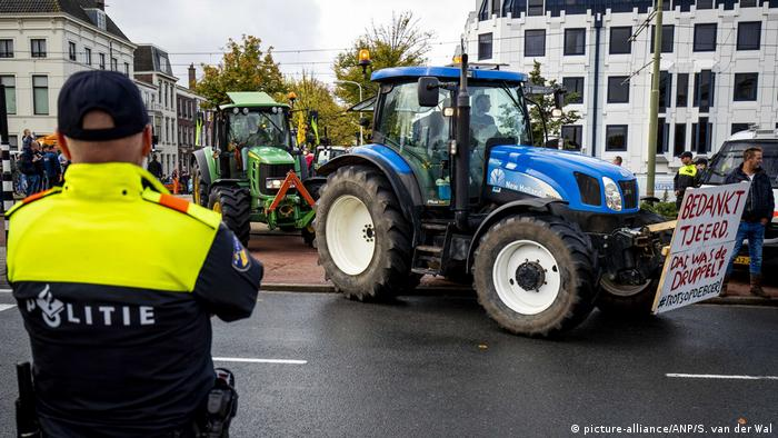 Two tractors in The Hague, October 1, 2019.