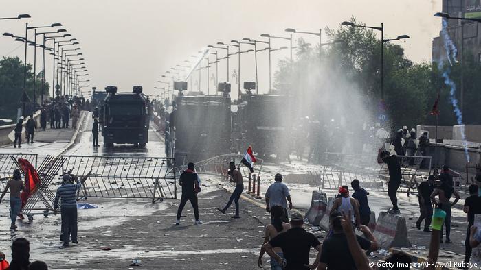 Irak Bagdad | Ausschreitungen und Proteste (Getty Images/AFP/A. Al-Rubaye)