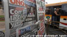 Peru Machtkampf und politische Krise