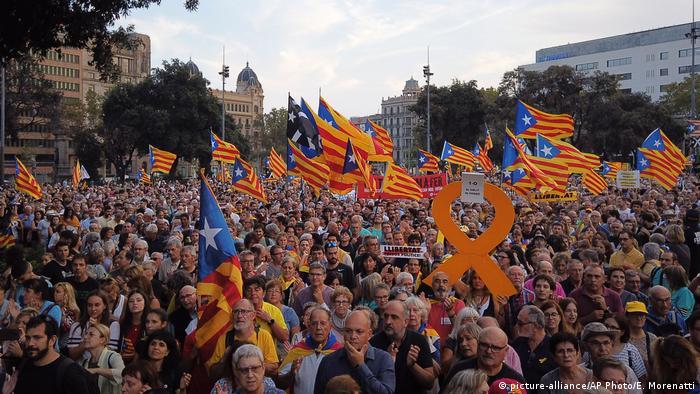 Spanien Katalonien Protest in Barcelona