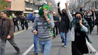 protesters in Iran in December 2009