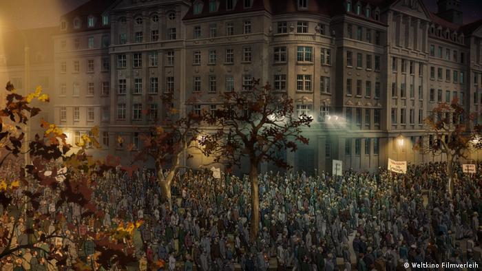 """Filmstill von """"Fritzi - eine Wendewundergeschichte - Montagsdemonstration"""