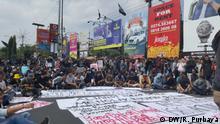 Proteste in Yogyakarta Indonesien gegen das neue Kriminalgesetz